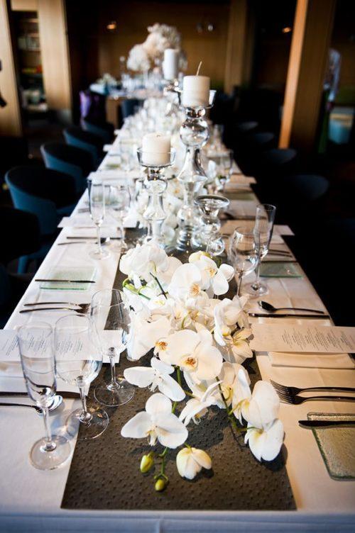 胡蝶蘭を使ったテーブル装花