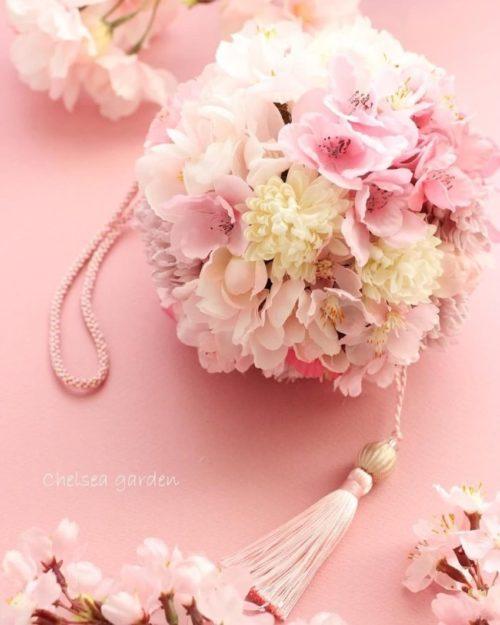 桜を使ったブーケ