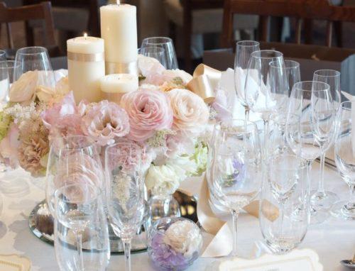 ラナンキュラスを使ったテーブル装花